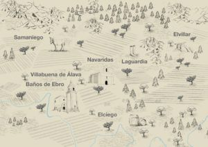 Ilustración mapa Rioja Alavesa