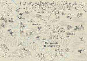 Ilustración mapa de La Sonsierra
