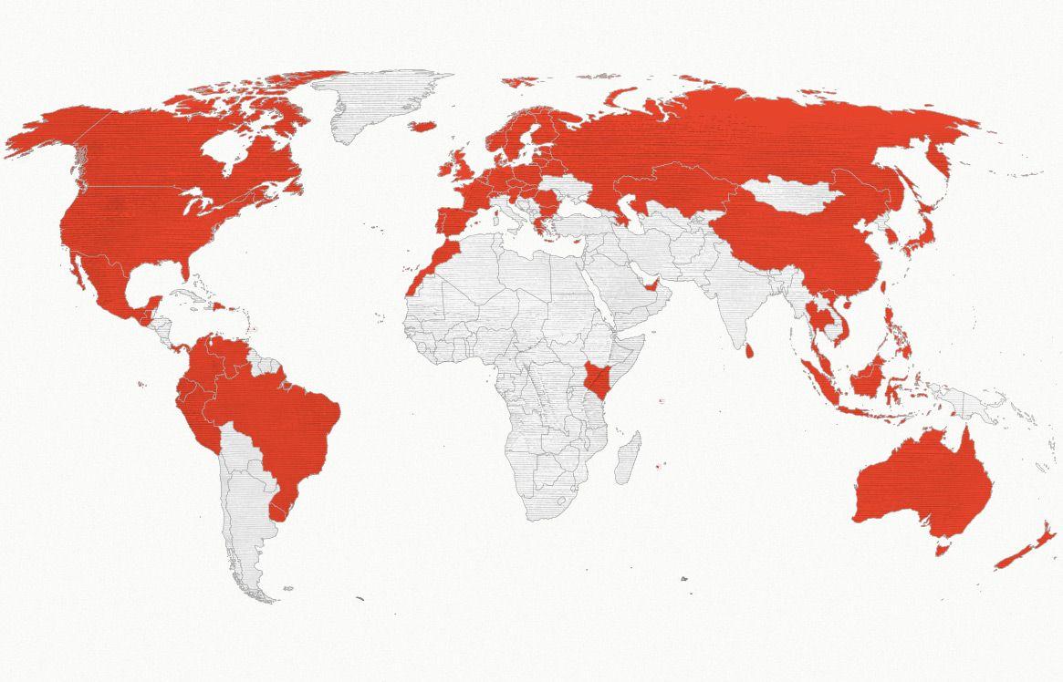 El Coto en más de 70 países